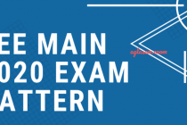 JEE 2020 Syllabus and Exam Pattern